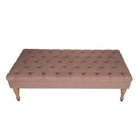 Tufted Ottoman with Tapered Legs (ON SALE)