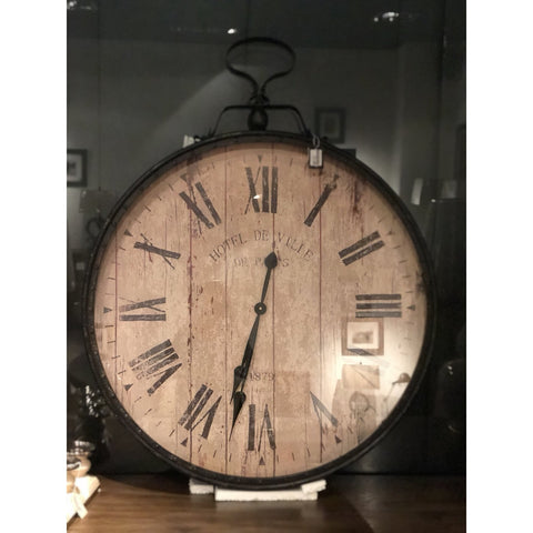 Image of Metal & Glass Wall Clock
