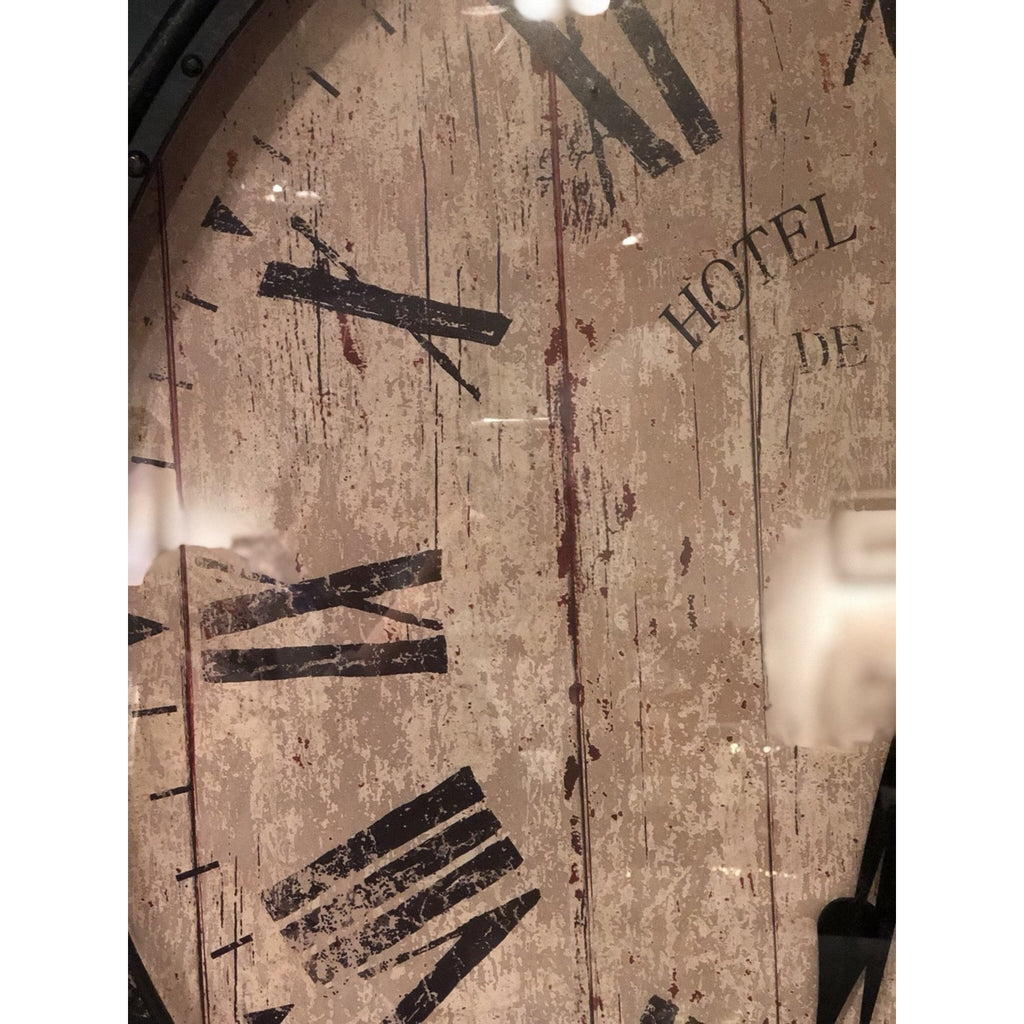 Metal & Glass Wall Clock