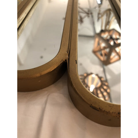 Image of Metal Wall Mirror, Gold