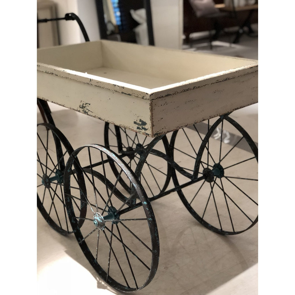 Metal and Pine Cart
