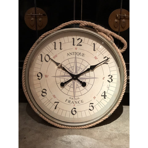 Metal Wall Clock w/ Rope