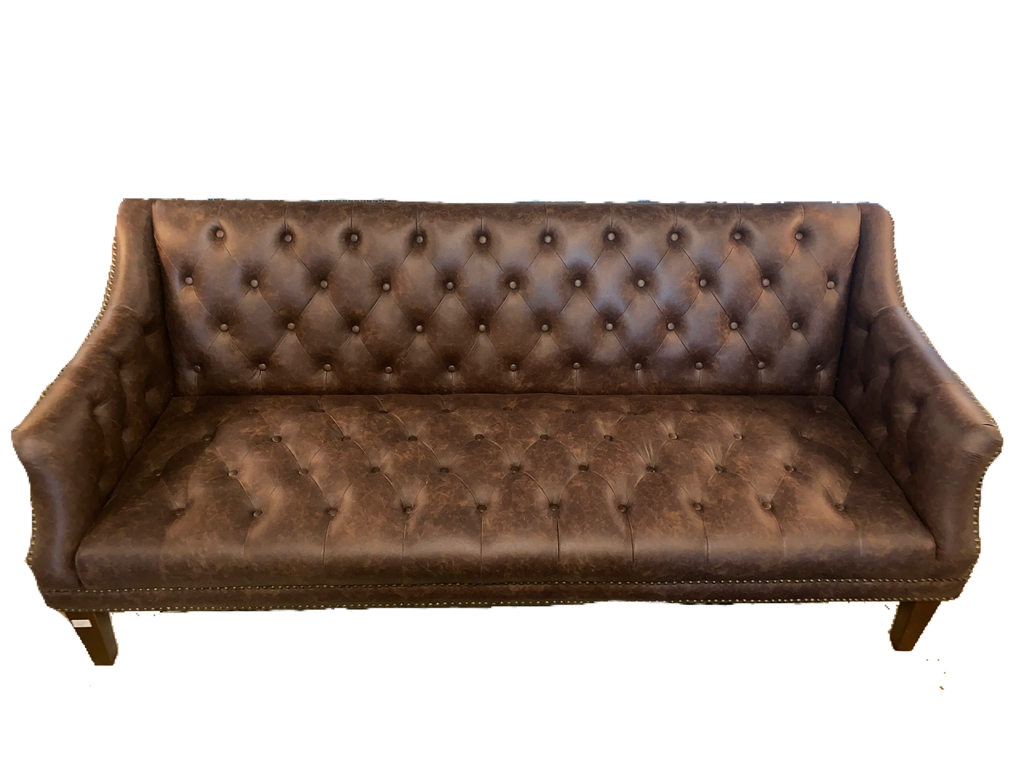 Brown Upholstered Tufted Sofa (ON SALE)