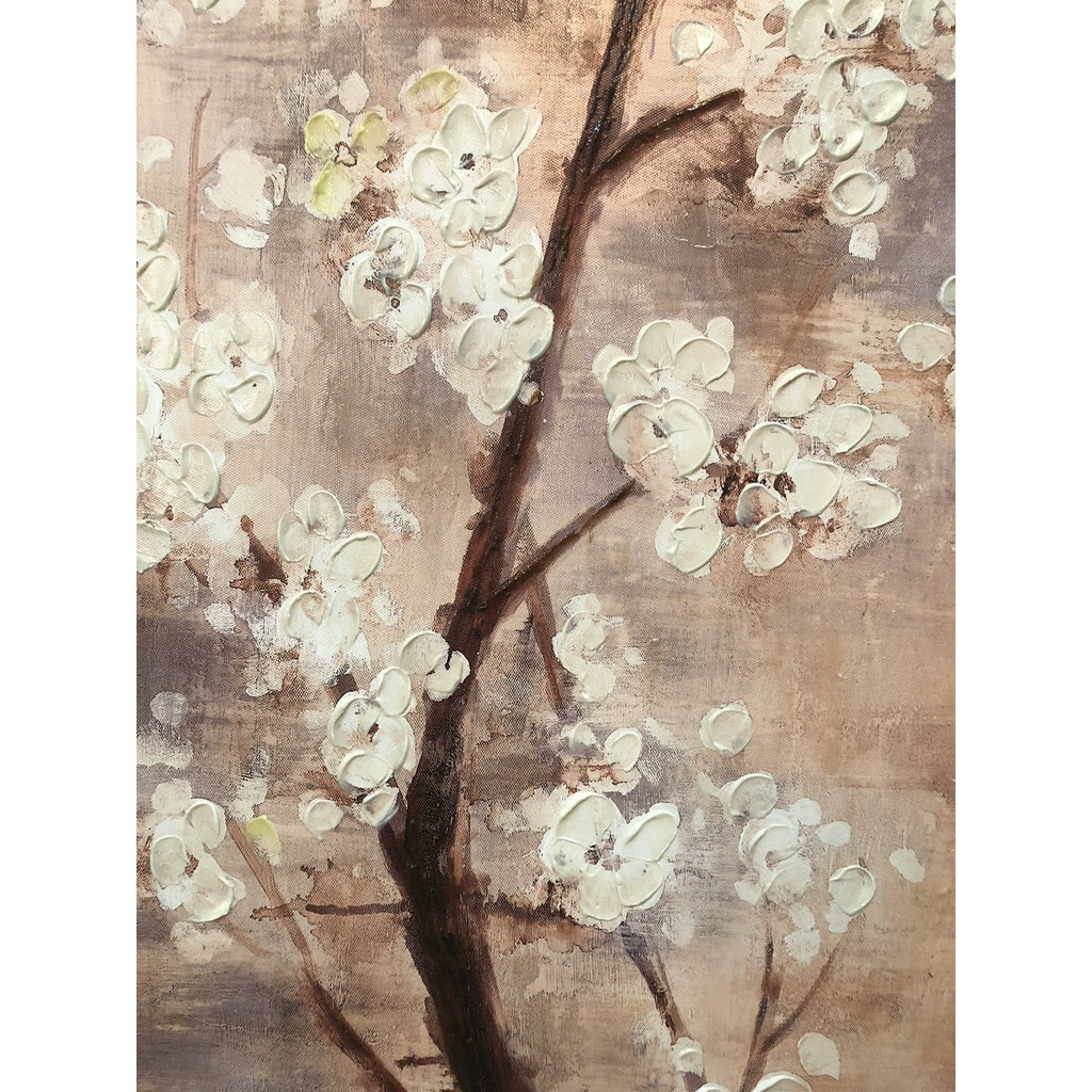 Canvas Hand-Painted Plum Blossom Wall Art