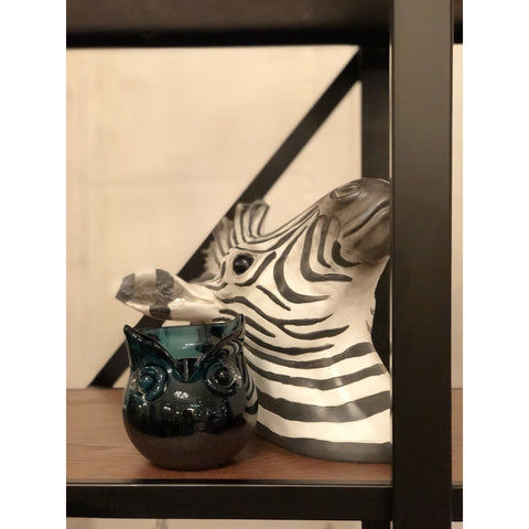 Image of Blue Owl Glass Vase