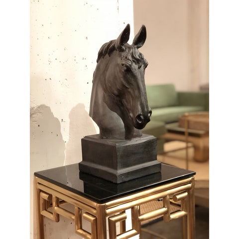 Image of Bronze Resin Horse Bust