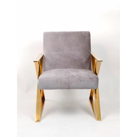Image of Gold Frame Accent Chair (ON SALE)