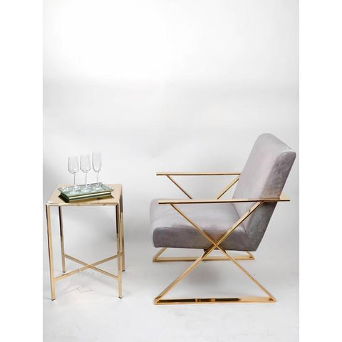 Gold Frame Accent Chair (ON SALE)