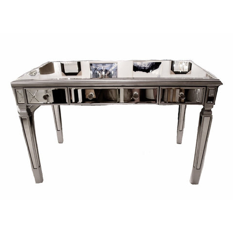 Silver Leaf Mirrored Desk