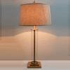 Glass Cylinder Table Lamp - Silver