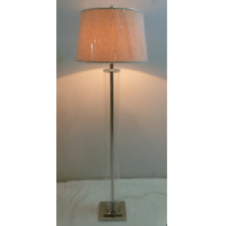 Glass Cylinder Floor Lamp - Silver