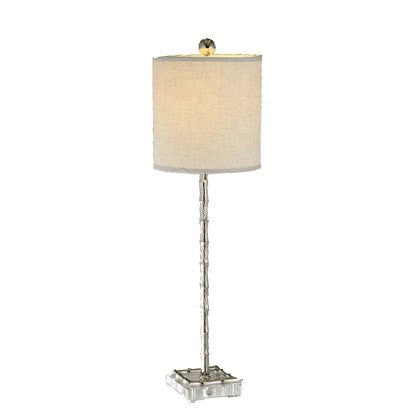 Nickle Bamboo Candlestick Lamp