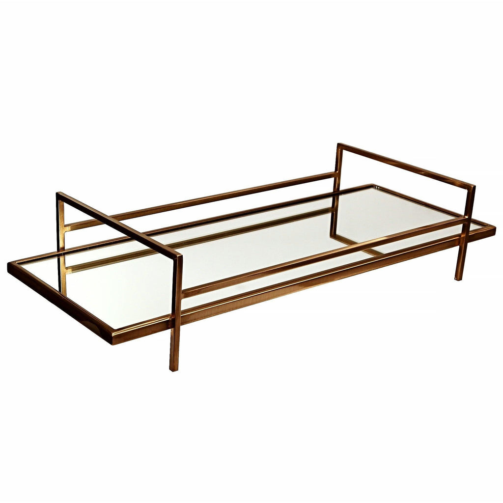 Mila Mirrored Serving Tray - taylorbdesign.com