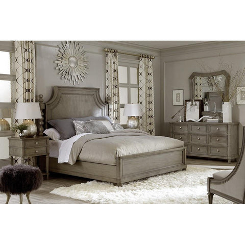 Queen Healey Panel Bed - Smoke Finish (ON SALE)
