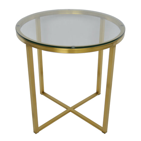 Image of Proud Glass Side Table (Polished Gold)