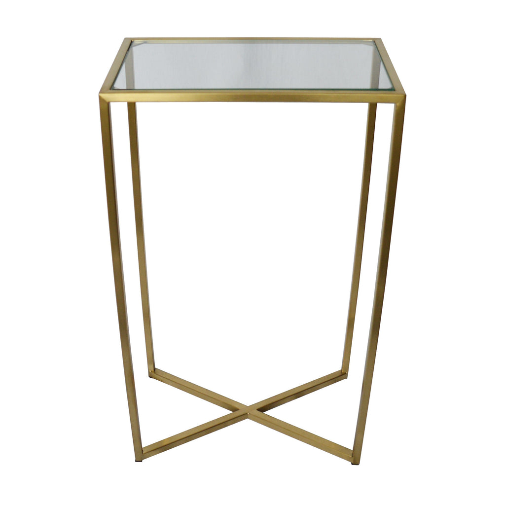 Manhattan Side Table (Brushed Gold)
