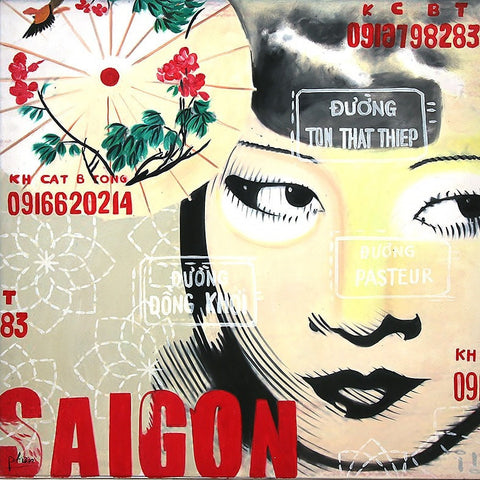 Saigon Girl Oil Paintings 80x80 UNFRAMED