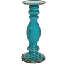 Cora Tall Pillar Candle Holder (Turquoise)