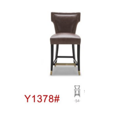 Y1378 Barstool (Leg Wood L035+Gold)