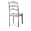 Beekman Dining Chair Dove Grey and White