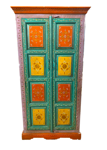 Wooden Hand painted Cabinet
