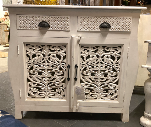Wooden carved 2 drawers Sideboard