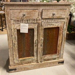 Wooden Carved 2 drawers 2 Door Cabinet
