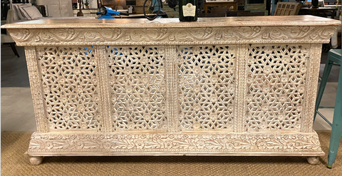 Image of Wooden Carved Bar counter