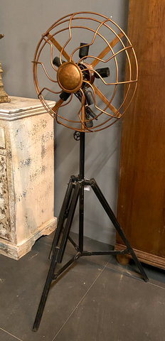 Industrial Fan Design Pedestal Lamp