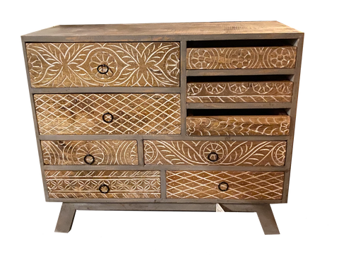 Wooden Carved Chest of Drawers