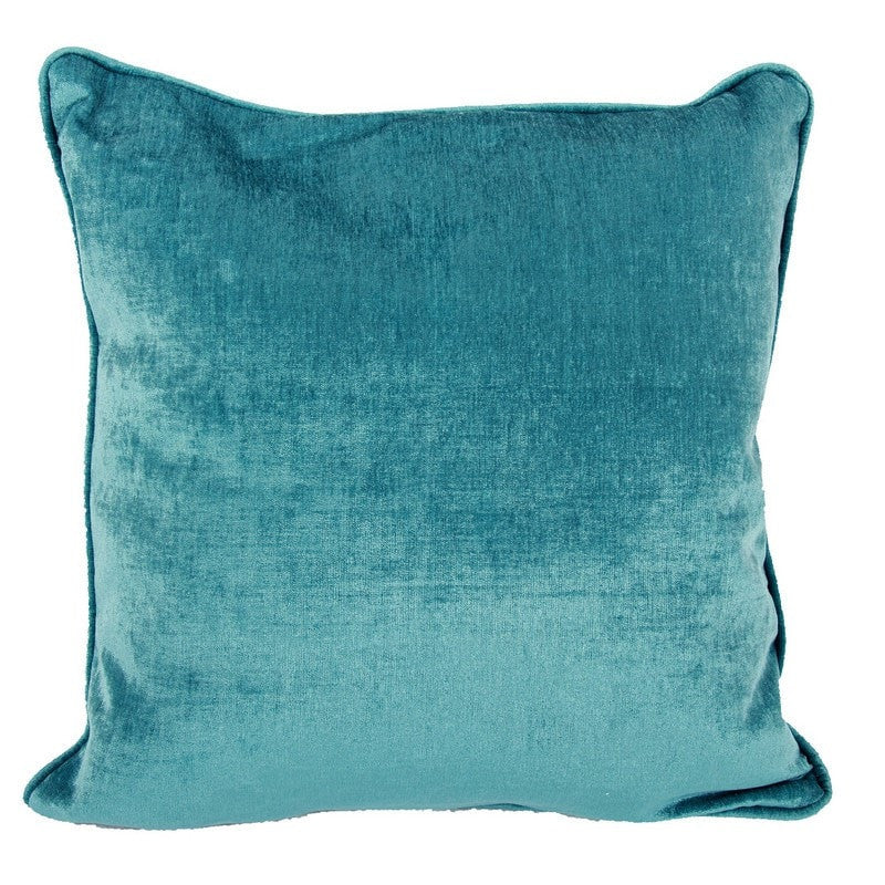 Teal Green Velveteen Shimmer Pillow