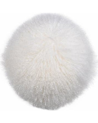Gila Lamb Fur Pillow White