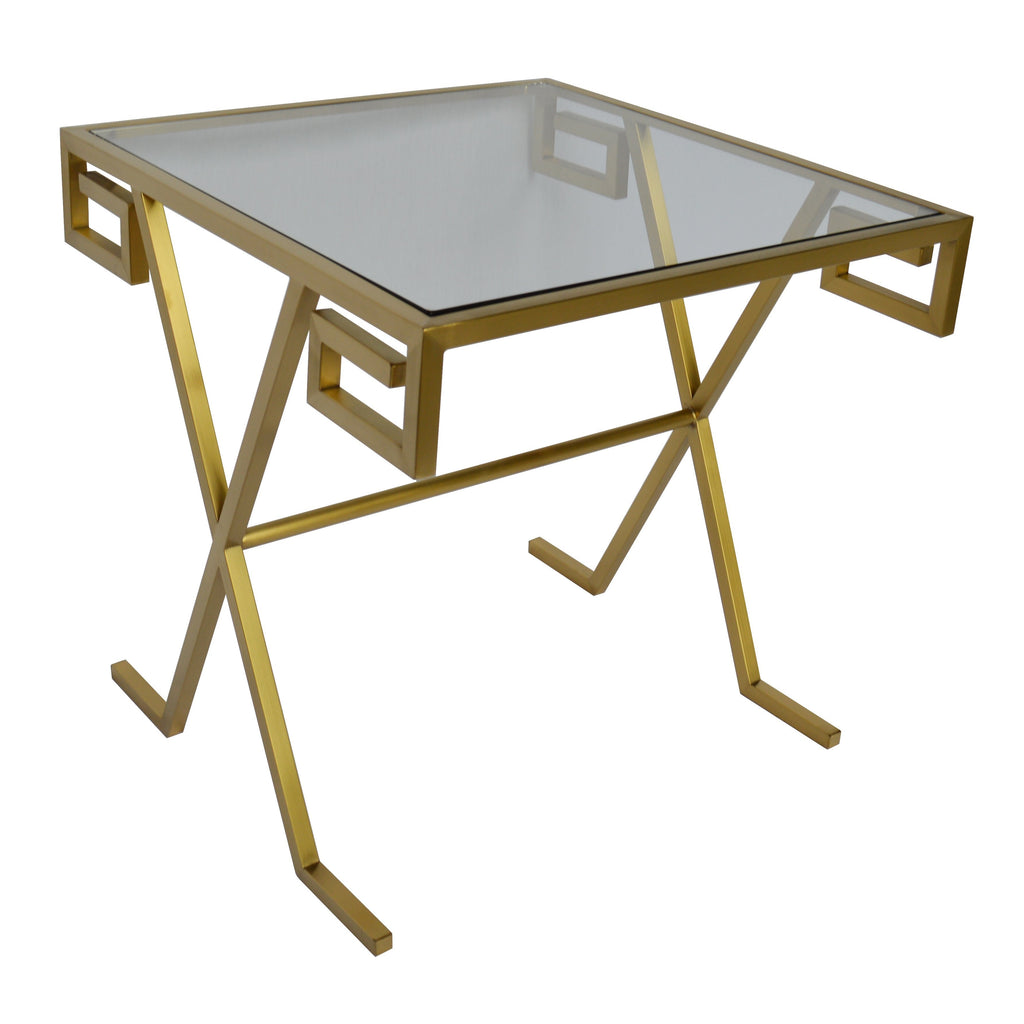 Greek Side Table (Brushed Gold)