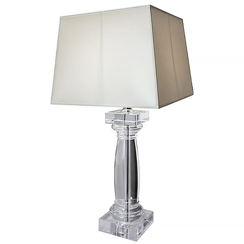 Tapered Column Crystal Lamp
