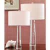 Octagon Pillar Crystal Lamp LARGE
