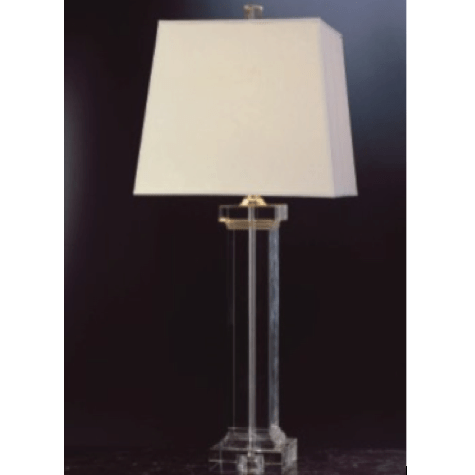 Square Crystal Column Lamp