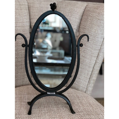 Image of Metal Framed Mirror w/ Bird On Top