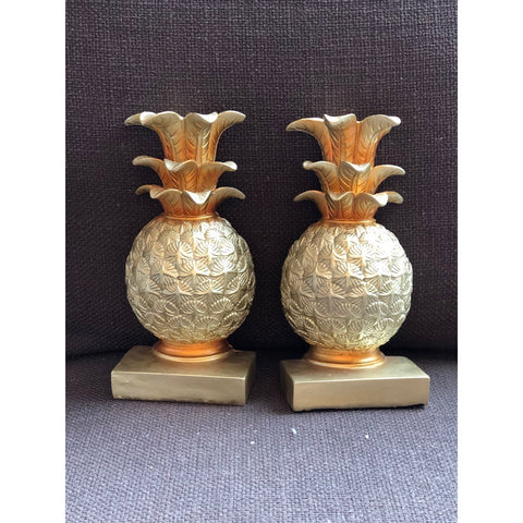 Resin Pineapple Bookends