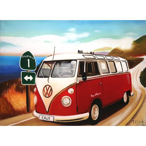 Volkswagen Van Oil Painting 60x80 UNFRAMED