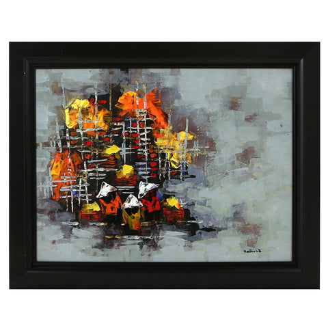 Abstract People Original Oil Painting Vietnam