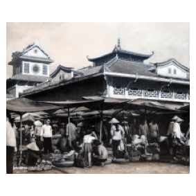 Vietnam Market - Oil on Canvas