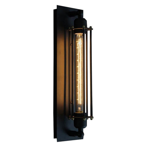 EDISON TUBE CAGED SCONCE