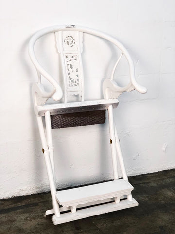 Image of White Veneer Chair Chinese
