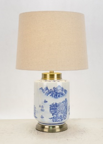 Oriental Blue & White Table Lamp