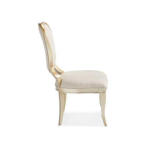 Champagne Mist CENTER SIDE CHAIR by Caracole®