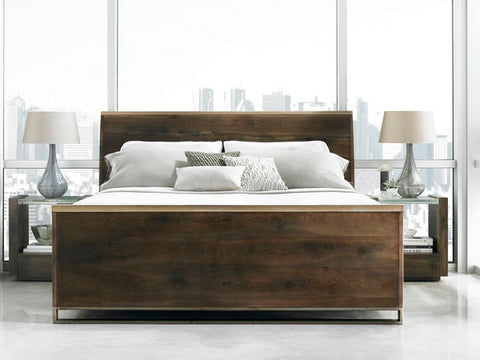 Night Cap Dark Finish Bed King By Caracole