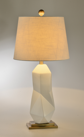 White Saint Ceramic Table Lamp