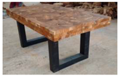 Block Rectangle Teak Dining Table