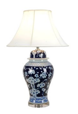 Indigo Floral Table lamp