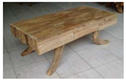 Teak 3 Drawer Coffee Table